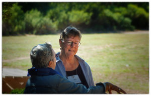 Judith Favor in discussion at Ghost Ranch